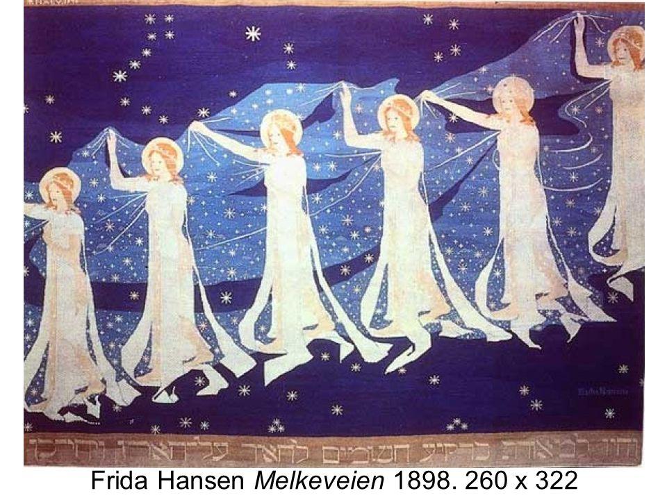 Frida Hansen Melkeveien 1898. 260 x 322