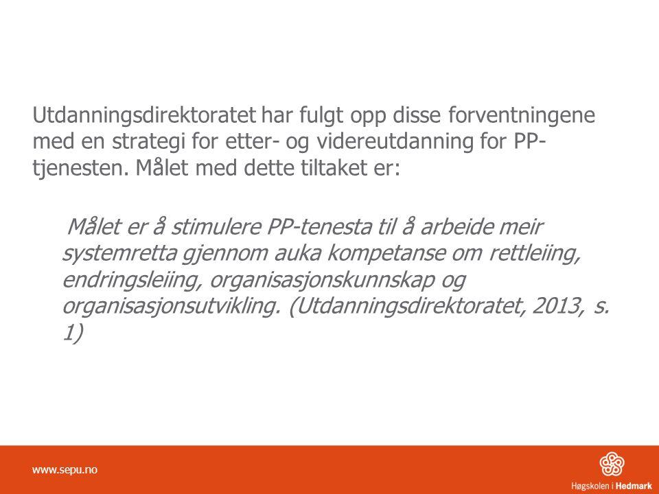 Ulike rammer for kommunikasjon Tidsrammer Fysiske rammer Aktivitetsrammer Mentale rammer www.sepu.no