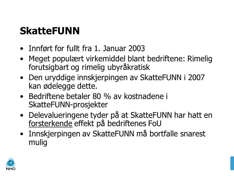 SkatteFUNN – det eneste virkemiddelet uten Margrethe Munthe-krav