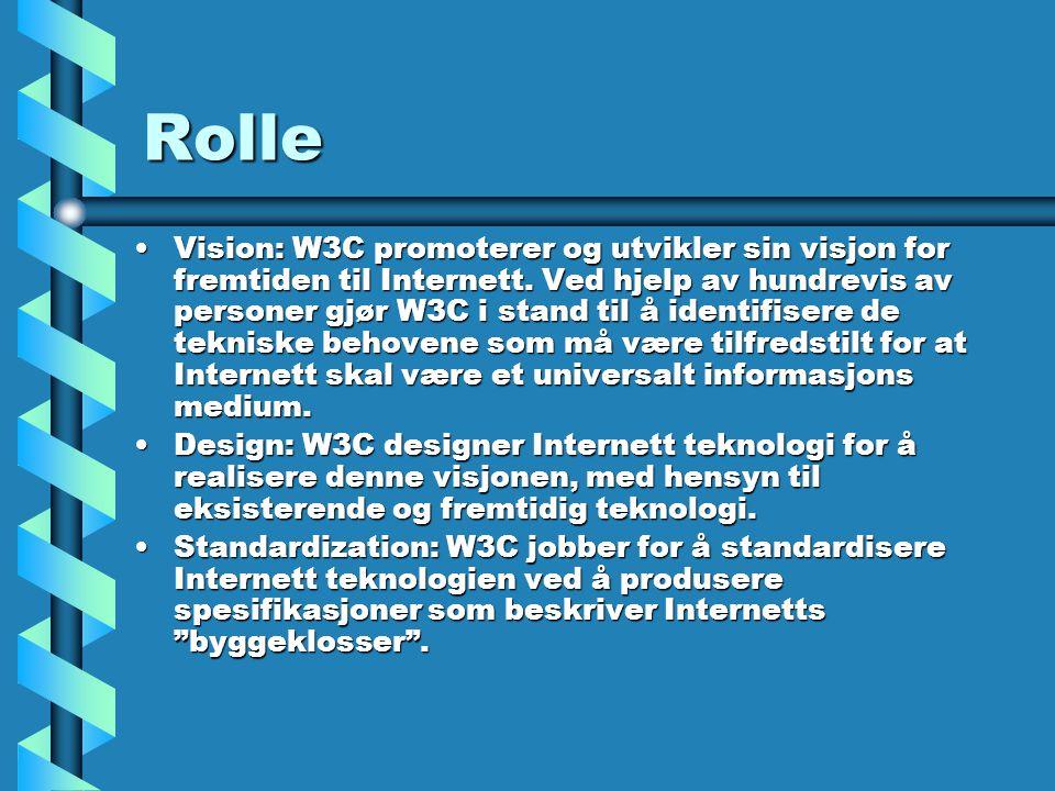 Rolle Vision: W3C promoterer og utvikler sin visjon for fremtiden til Internett.