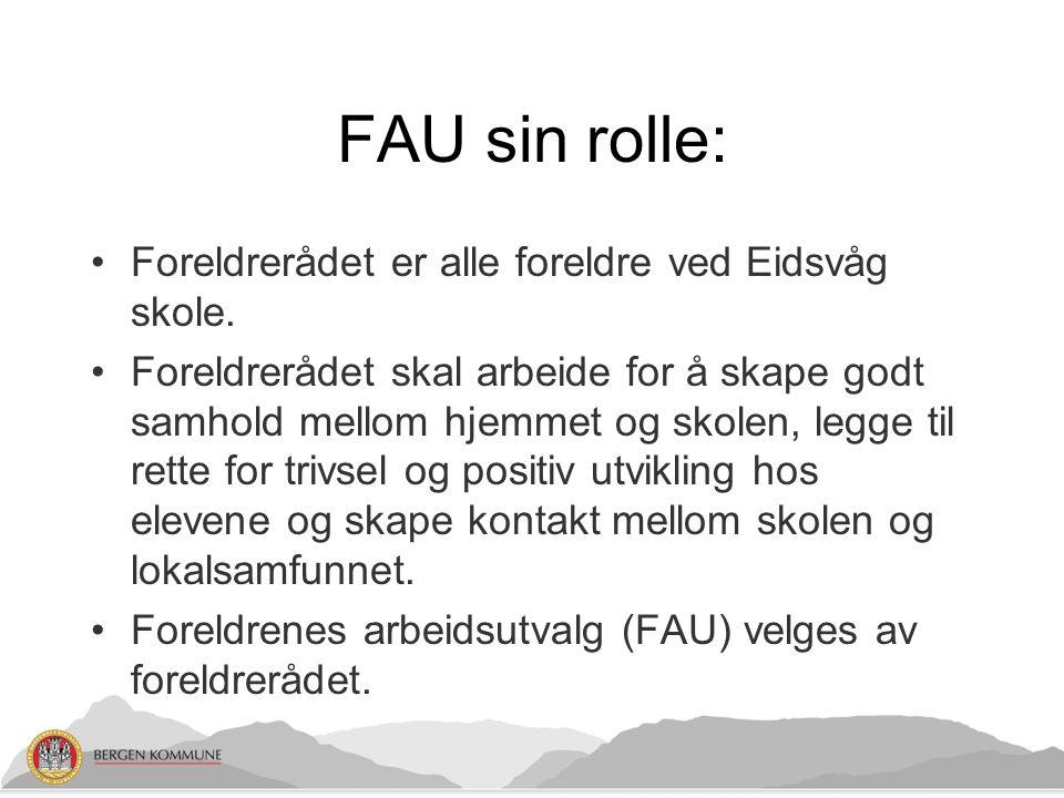 FAU sin rolle: Foreldrerådet er alle foreldre ved Eidsvåg skole.