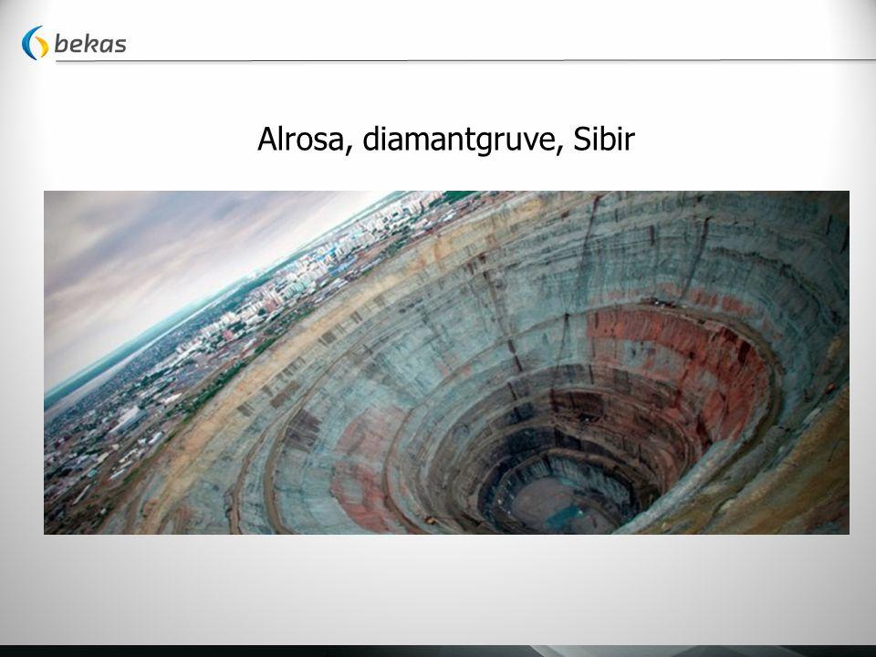 Alrosa, diamantgruve, Sibir