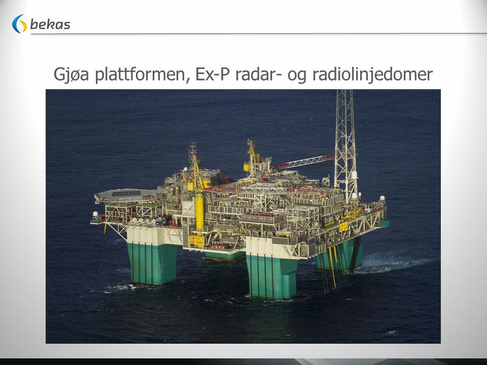 Gjøa plattformen, Ex-P radar- og radiolinjedomer