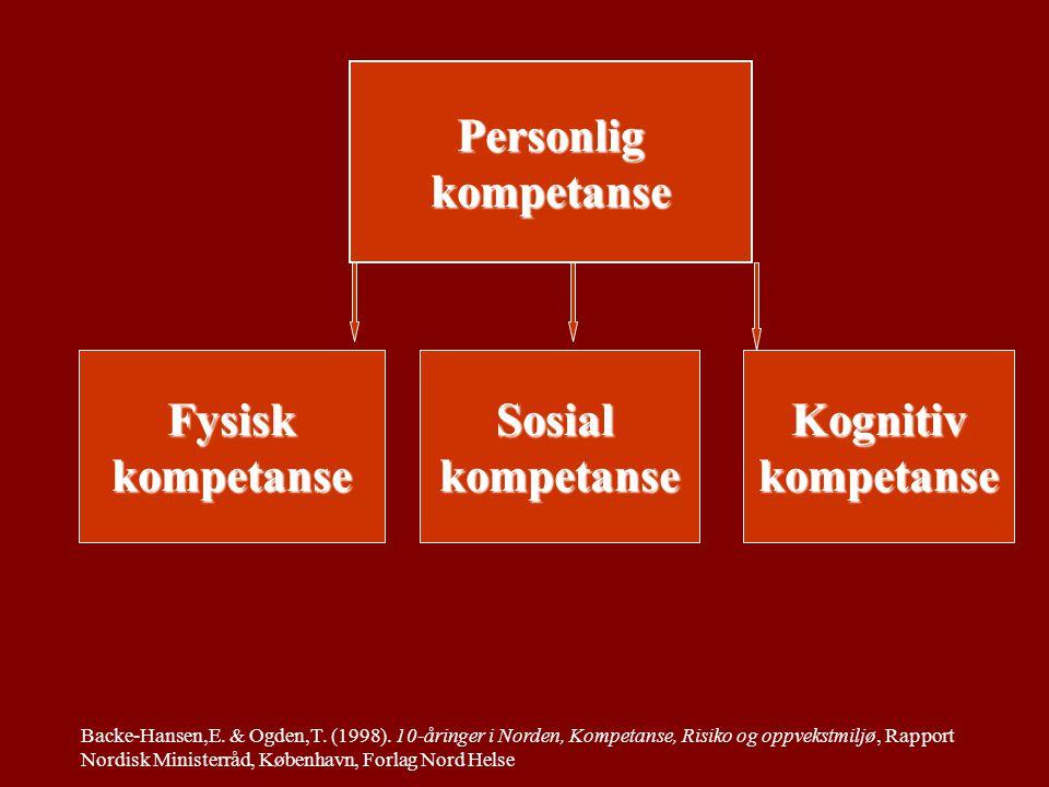 Sosial kompetanse som barns kapasitet til å integrere tenkning, følelser og atferd for å lykkes med sosiale oppgaver og utvikle seg positivt.