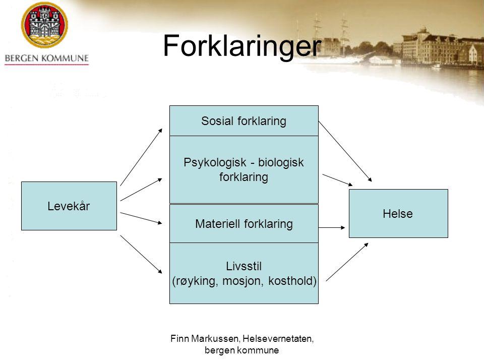 Finn Markussen, Helsevernetaten, bergen kommune 15 Dødelighet og utdanning Dødelighet etter utdanning.