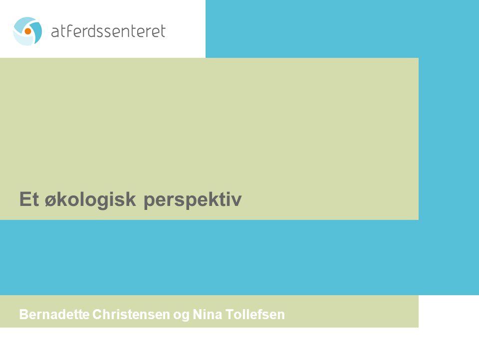 Et økologisk perspektiv Bernadette Christensen og Nina Tollefsen