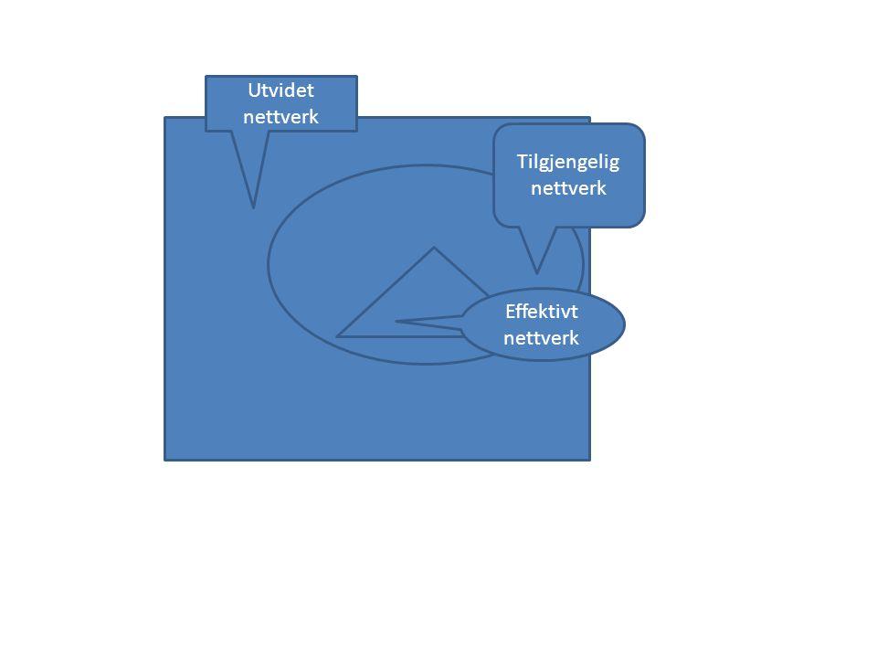Utvidet nettverk Tilgjengelig nettverk Effektivt nettverk