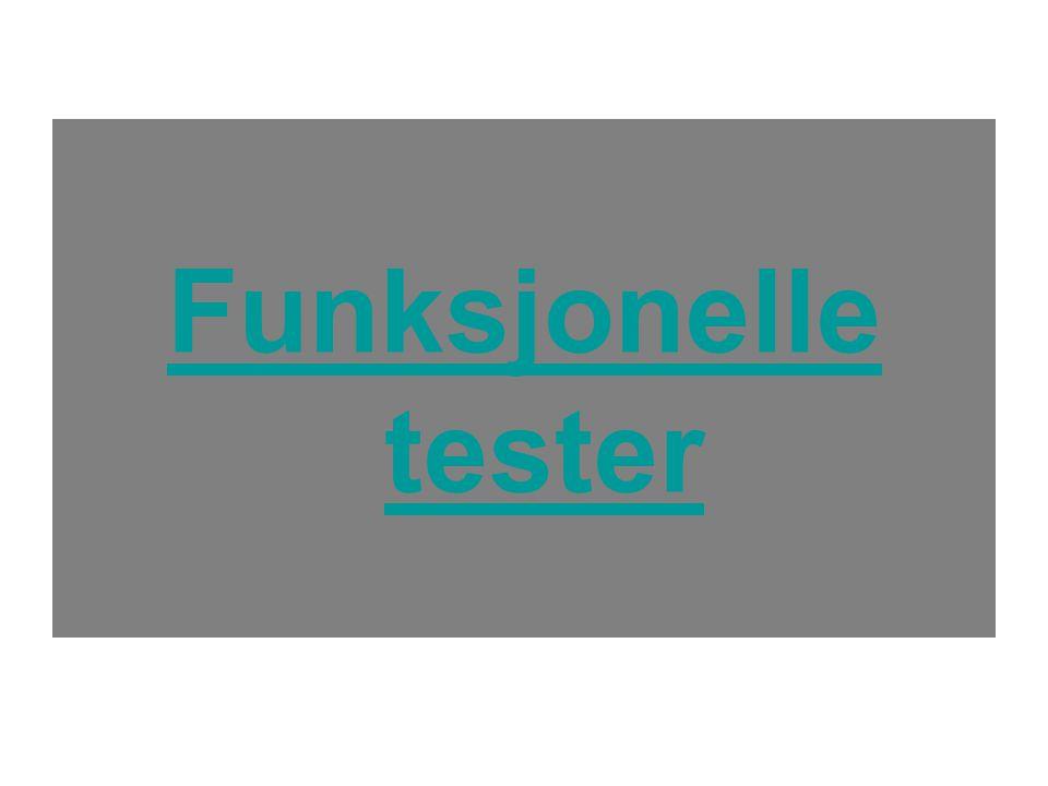 Funksjonelle tester