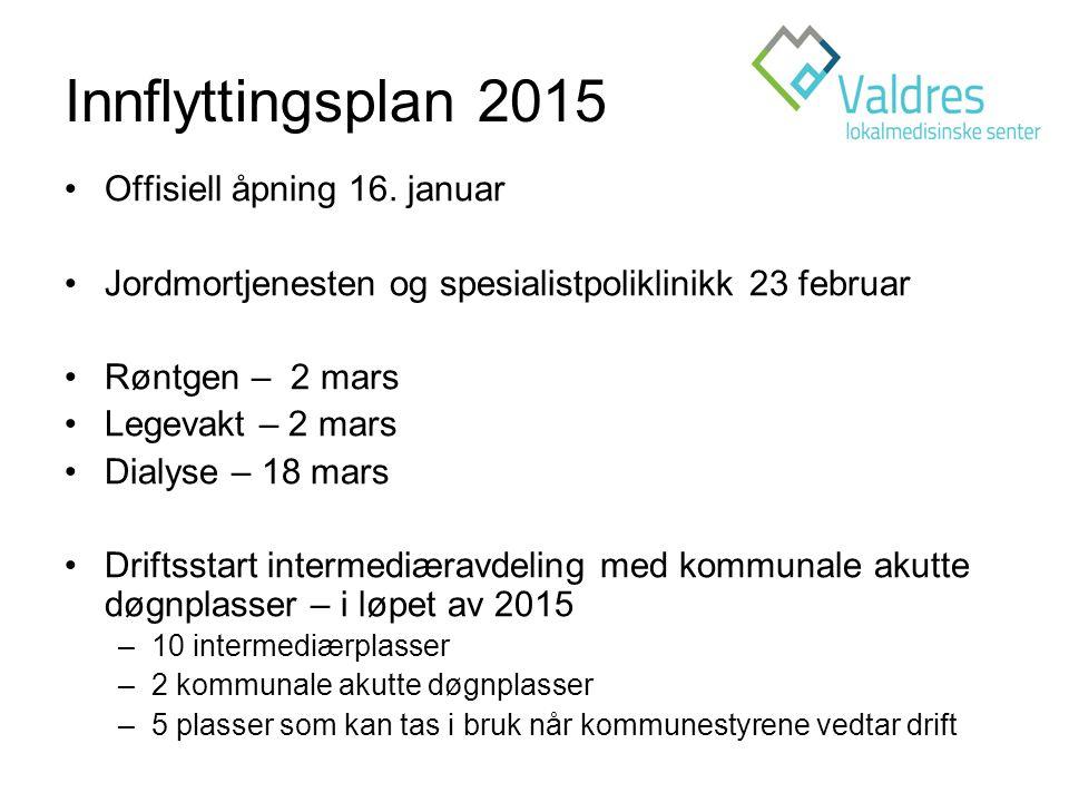Innflyttingsplan 2015 Offisiell åpning 16.