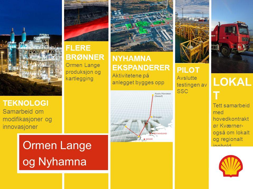 5 oktober 2011 NYHAMNA UTVIDELSE HAR TO FORMÅL: Eksportrute for Polarled Gass Onshore kompresjon for Ormen Lange gass