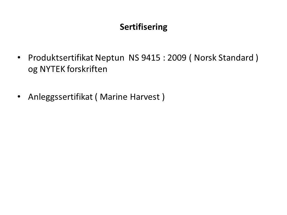 Sertifisering; Forankringsanalyse