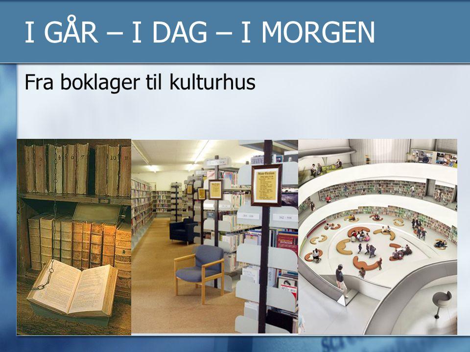 I GÅR – I DAG – I MORGEN Fra boklager til kulturhus