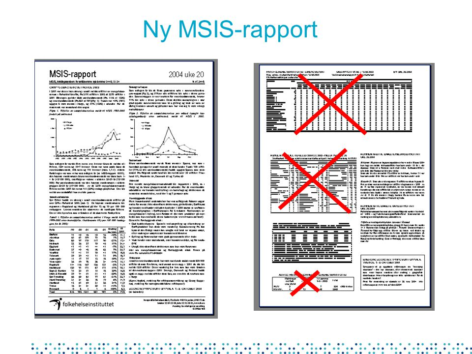 Ny MSIS-rapport