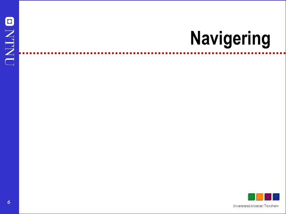 6 Navigering