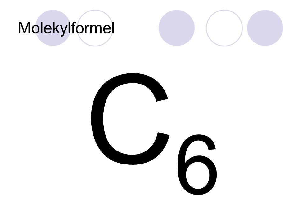 Molekylformel C 6