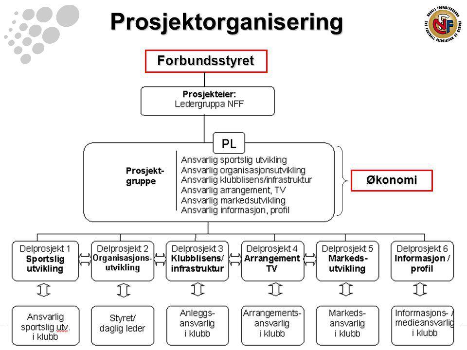 Prosjektorganisering Økonomi Forbundsstyret