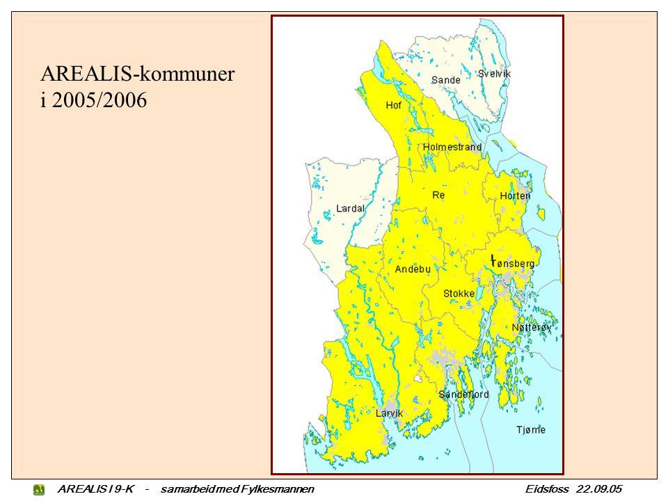 AREALIS-kommuner i 2005/2006