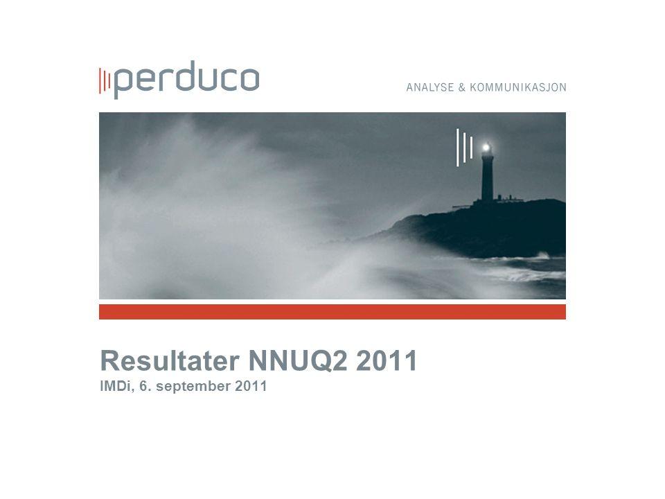 Resultater NNUQ2 2011 IMDi, 6. september 2011