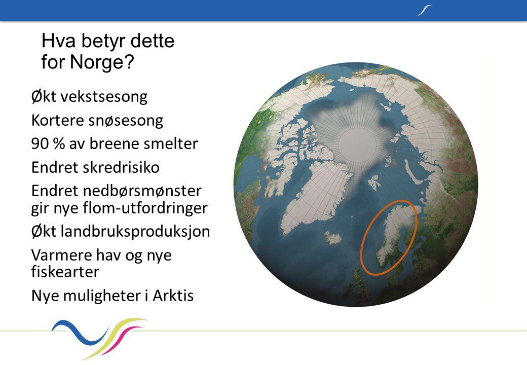 Hva betyr dette for Norge.