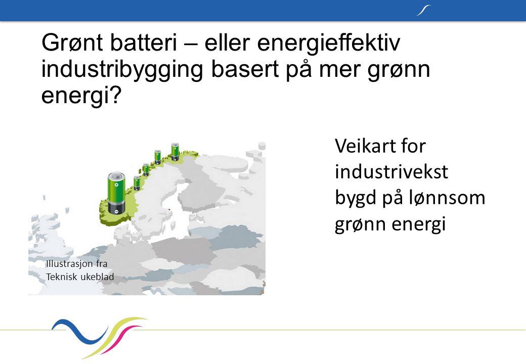 Grønt batteri – eller energieffektiv industribygging basert på mer grønn energi.