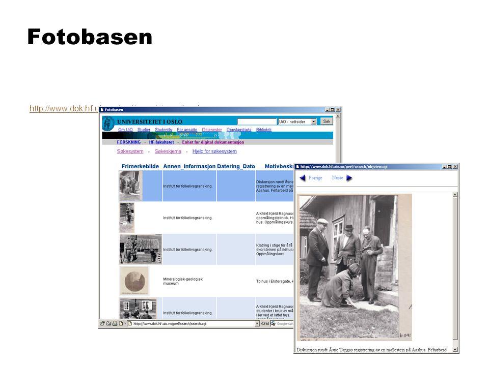 Fotobasen http://www.dok.hf.uio.no/perl/search/search.cgi