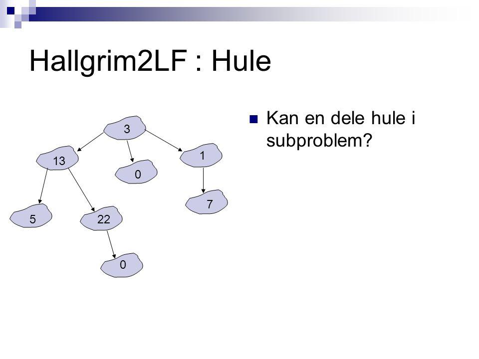 Hallgrim2LF : Hule Kan en dele hule i subproblem? 3 13 522 0 0 1 7