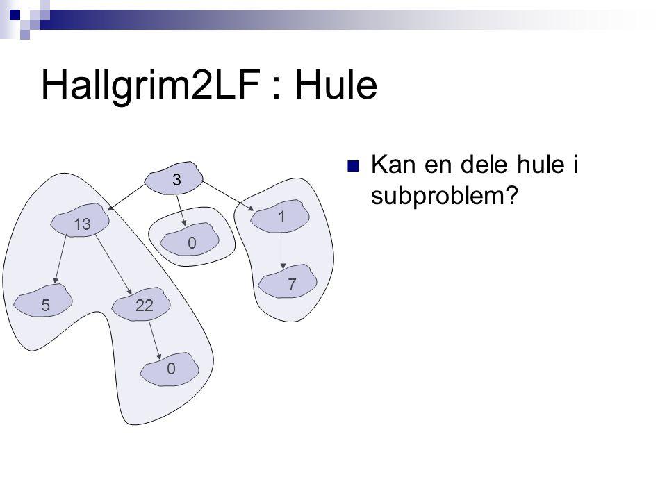 Hallgrim2LF : Hule Hva vil traversere() returnere dersom den blir kjørt på nodene med 13, 0, 1 møte.