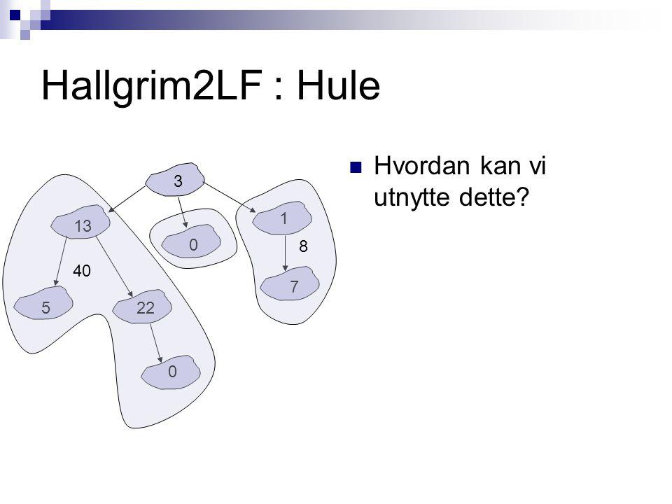 Hallgrim2LF : Hule Hvordan kan vi utnytte dette.Hva vil svaret til hele treet bli.