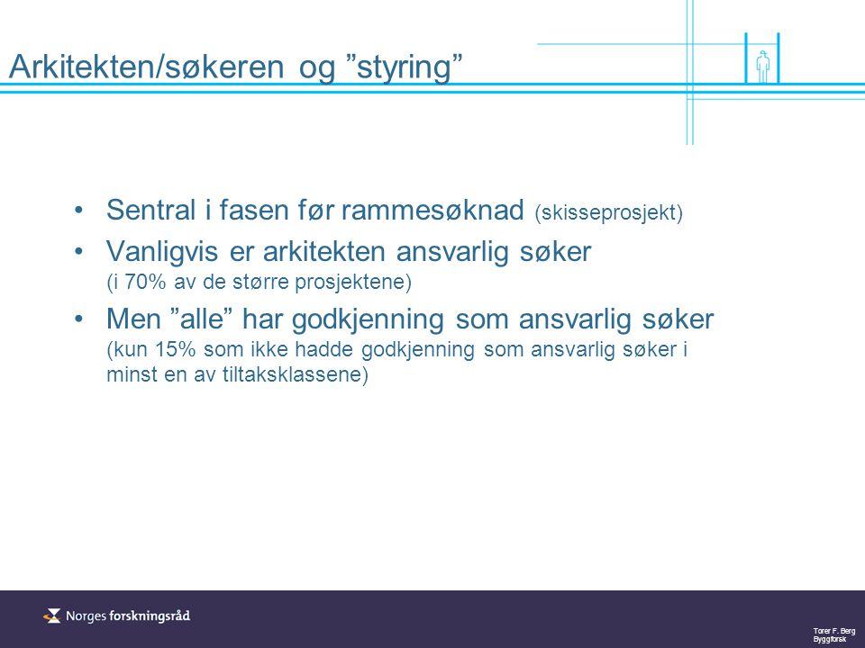 Torer F. Berg Byggforsk Styring etter rammesøknad