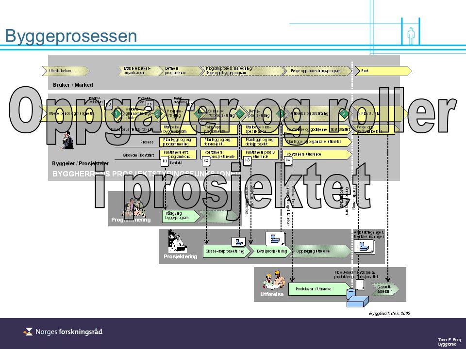 Torer F. Berg Byggforsk Styringsfunksjoner i prosjektet