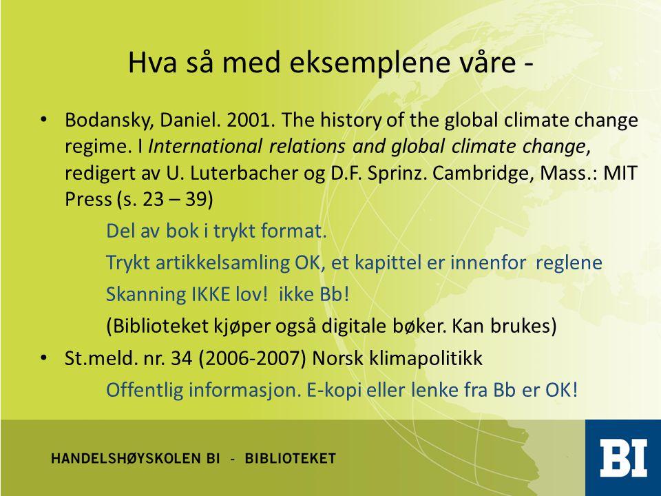 Hva med eksemplene – forts.Randers, Jørgen og Knut Alfsen.
