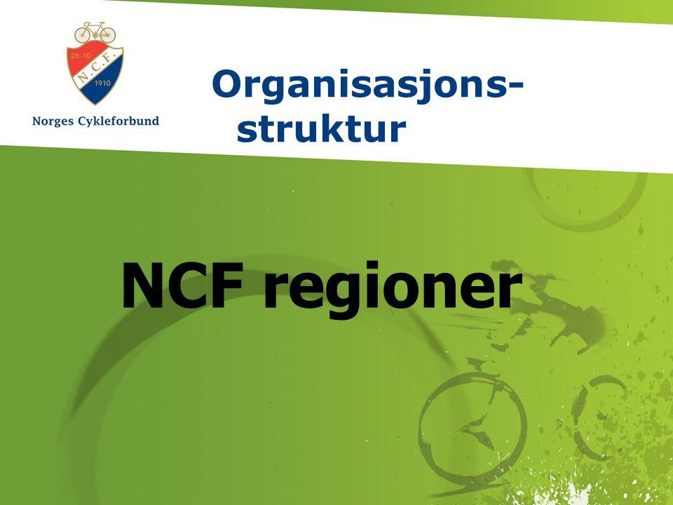 7. februar 2009 // side 1 // www.sykling.no Organisasjons- struktur NCF regioner