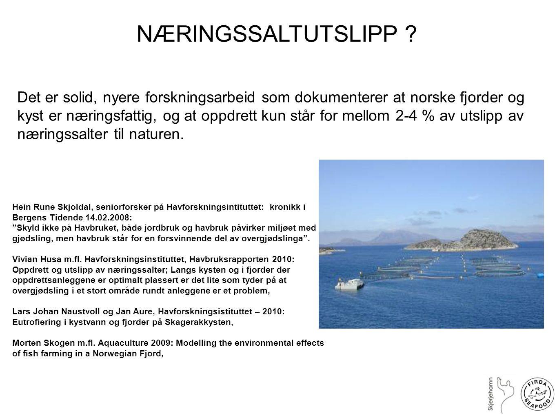 Utslipp av næringssalter Hardangerfjorden Nitrogen Prod.