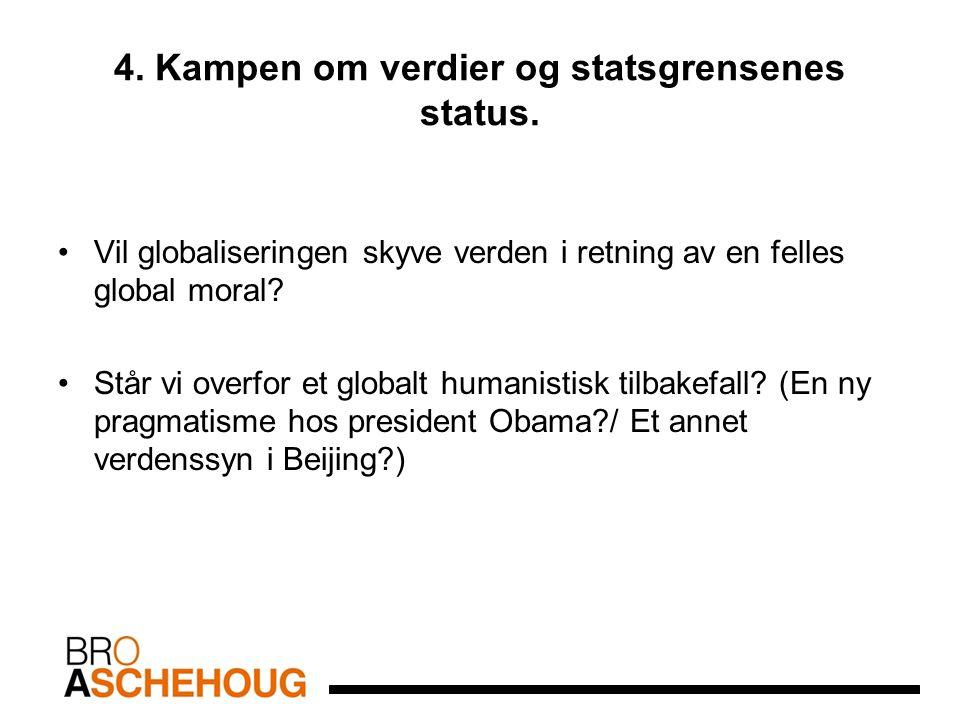 4. Kampen om verdier og statsgrensenes status.