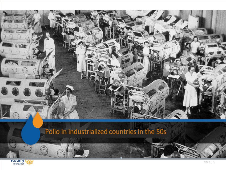 TITLE | 6 Historien bak: 1979 Vaksinasjonsdag på Philippinene 1985 Polio Pluss 1988US$247 mill World Helath Assembly: Resolusjon: Utrydde polio Global Polio Eradication Initiativ (GPEI) Etablert 1994 Den vestlige halvkule poliofri 1995: 165 mill barn i China og India vaksinert på 1 uke 1996: 150 poliofrie land.