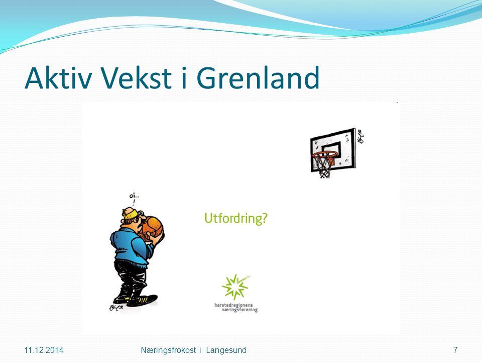 Aktiv Vekst i Grenland 11.12.2014Næringsfrokost i Langesund7