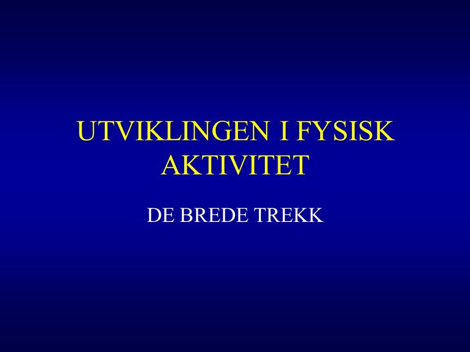 UTVIKLINGEN I FYSISK AKTIVITET DE BREDE TREKK