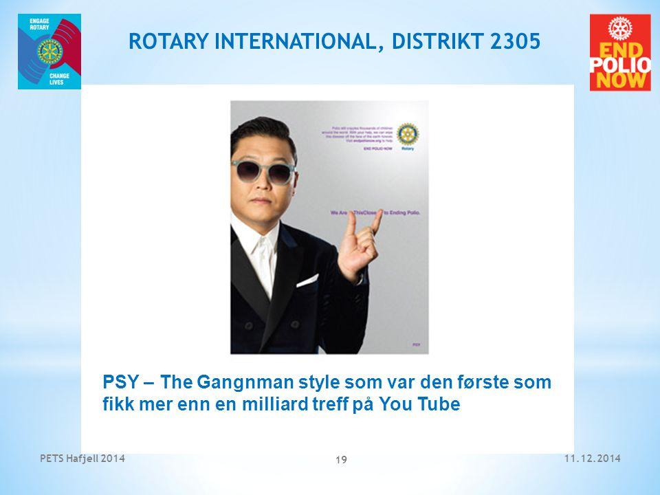 11.12.2014PETS Hafjell 2014 19 ROTARY INTERNATIONAL, DISTRIKT 2305 PSY – The Gangnman style som var den første som fikk mer enn en milliard treff på You Tube