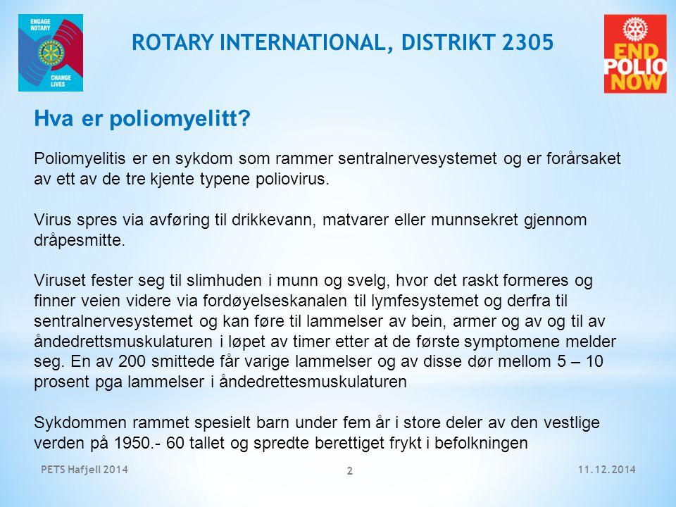 11.12.2014PETS Hafjell 2014 3 ROTARY INTERNATIONAL, DISTRIKT 2305