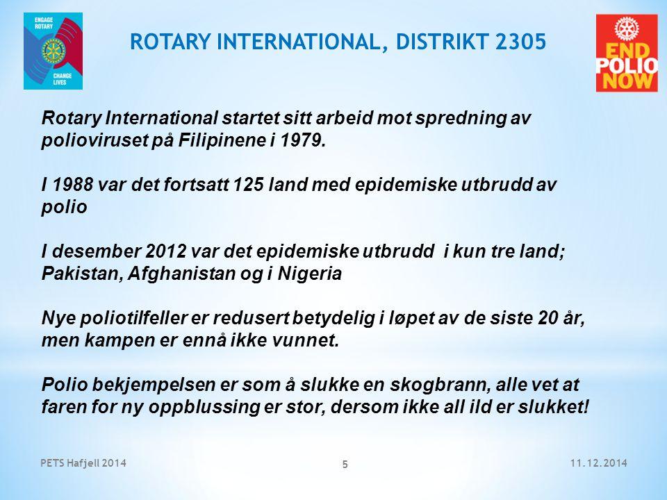 11.12.2014PETS Hafjell 2014 6 ROTARY INTERNATIONAL, DISTRIKT 2305