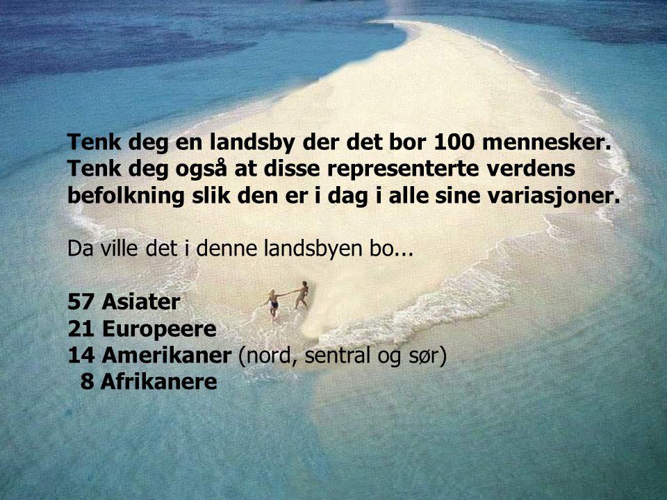 Tenk deg en landsby der det bor 100 mennesker.