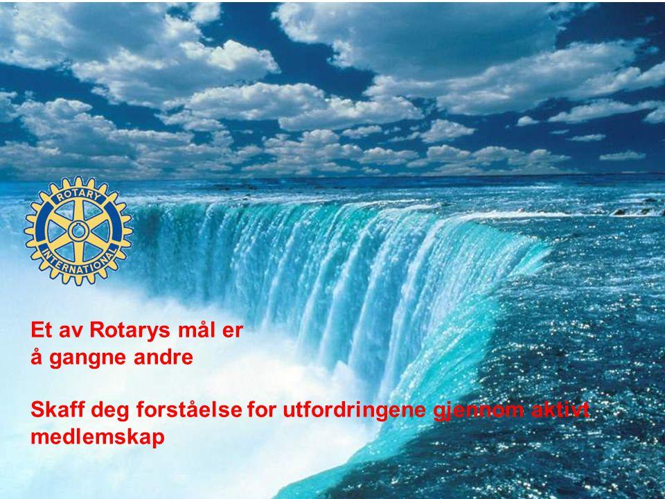 Et av Rotarys mål er å gangne andre Skaff deg forståelse for utfordringene gjennom aktivt medlemskap
