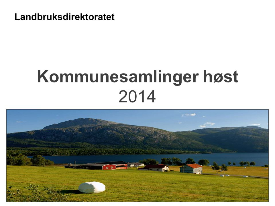 Kommunesamlinger høst 2014