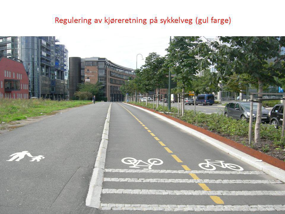 Benytte vegoppmerking som enkle og effektive TS-tiltak gang og sykkelveg