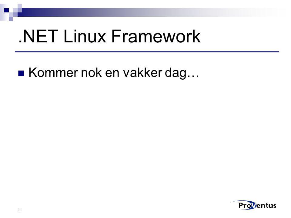 11.NET Linux Framework Kommer nok en vakker dag…