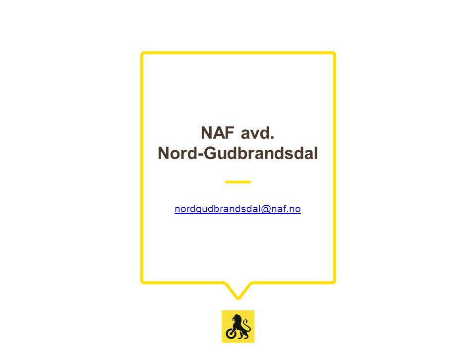 NAF avd. Nord-Gudbrandsdal nordgudbrandsdal@naf.no