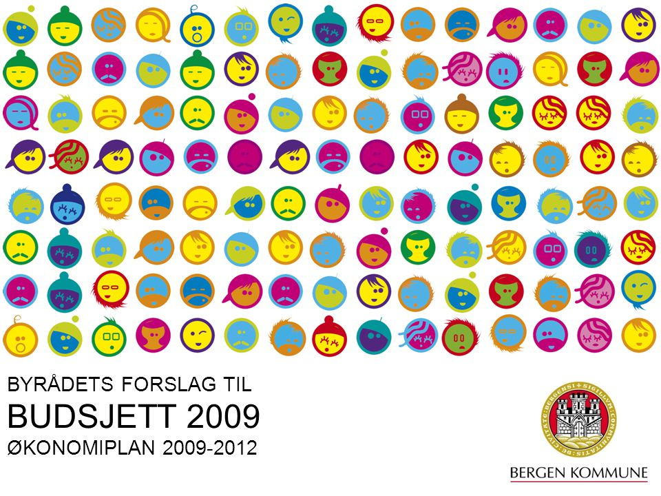 BYRÅDETS FORSLAG TIL BUDSJETT 2009 ØKONOMIPLAN 2009-2012