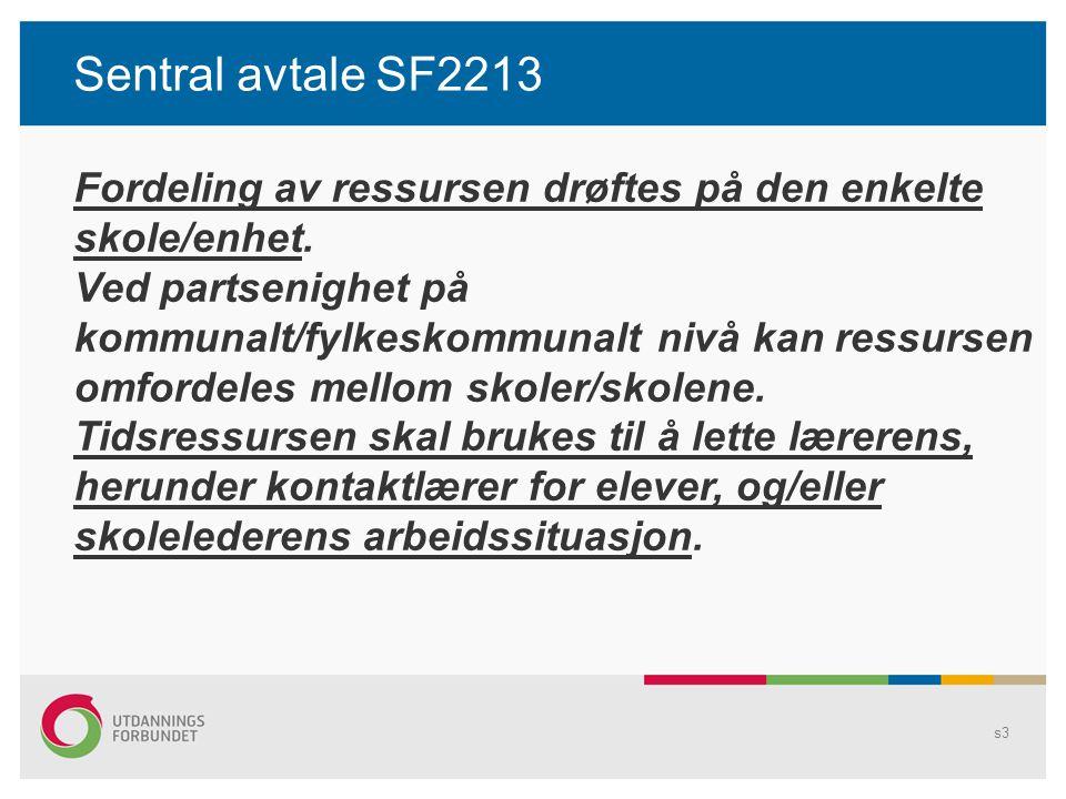 Sentral avtale SFS 2213 s4 Dette gjøres som hovedregel ved reduksjon av antall undervisningstimer.
