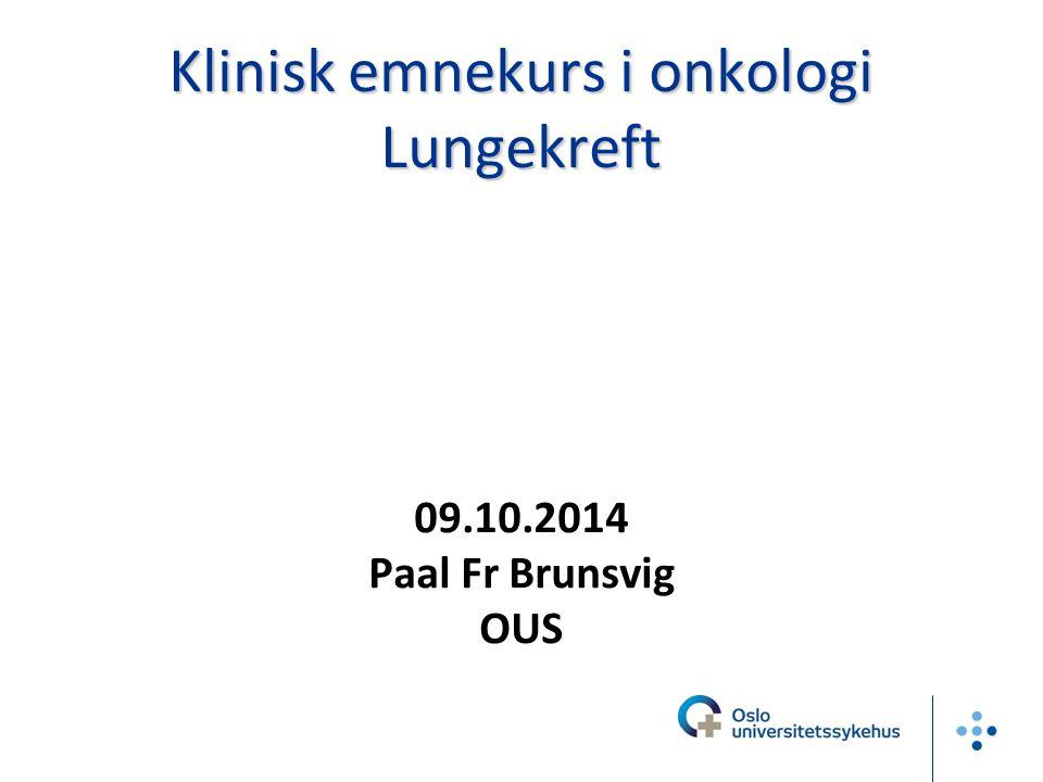 Én av ti kreftdiagnoser i Norge er lungekreft 2902 nye tilfeller i 2012