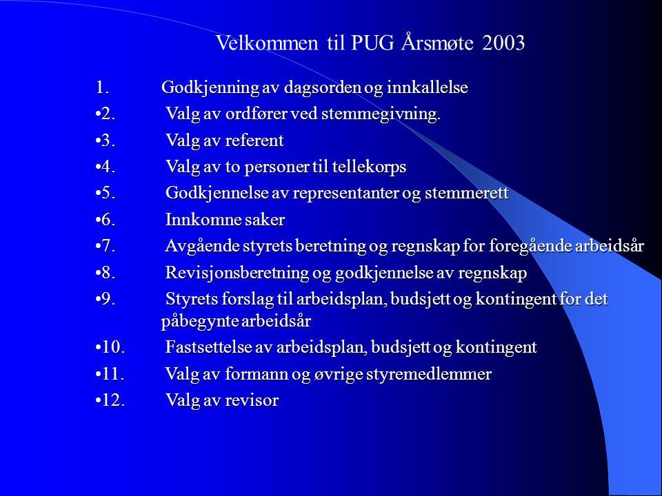 Styrets årsberetning 2002 Medlemsmøter: 25.